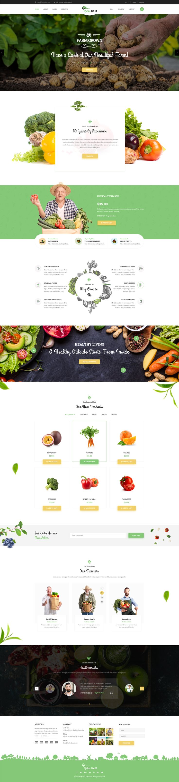 Rotterdam - Agri & Farming PSD Template #agriculture #business #farming • Download ➝ https://themeforest.net/item/rotterdam-agri-farming-psd-template/19667190?ref=pxcr