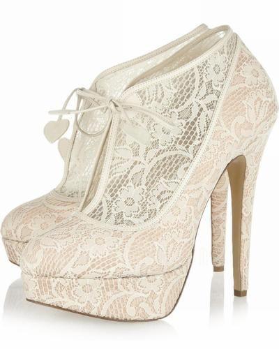 Wedding Shoes - $79.99 - Women's Lace Stiletto Heel Boots Closed Toe Platform Pumps (047026584) http://amormoda.com/Women-S-Lace-Stiletto-Heel-Boots-Closed-Toe-Platform-Pumps-047026584-g26584