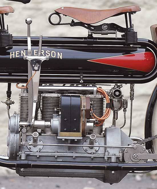 Close up of the 1912 Henderson Four engine