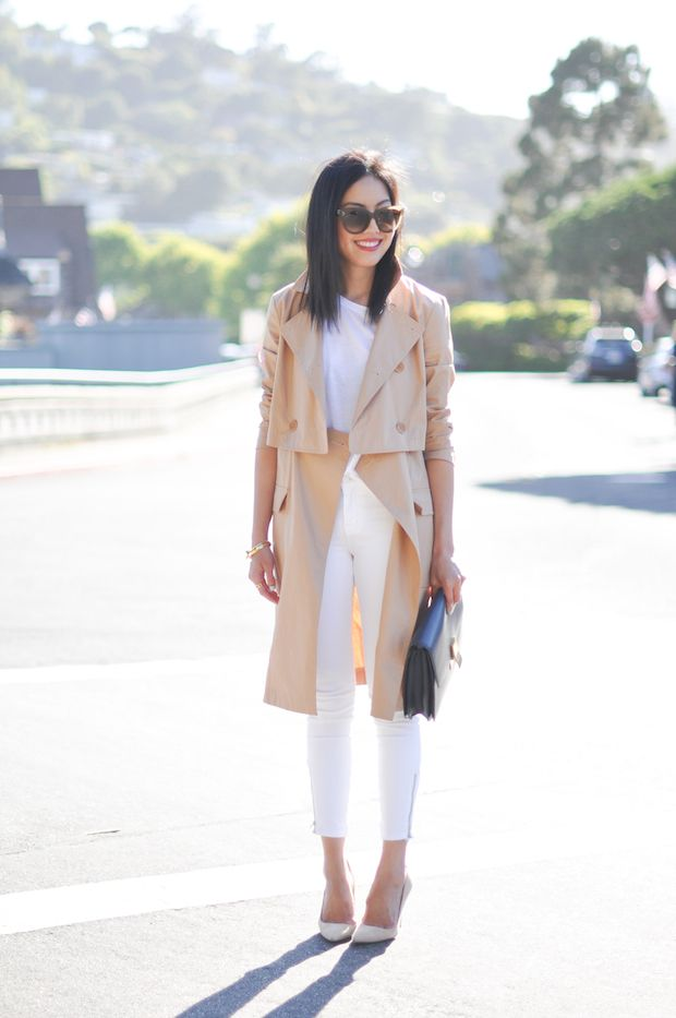 classic neutrals with a trench
