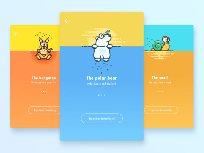 Original works: Some Dribbble works