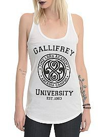 HOTTOPIC.COM - Doctor Who Gallifrey University Girls Tank Top #doctorwho