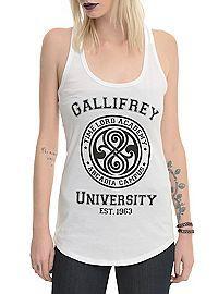 HOTTOPIC.COM - Doctor Who Gallifrey University Girls Tank Top #doctorwho