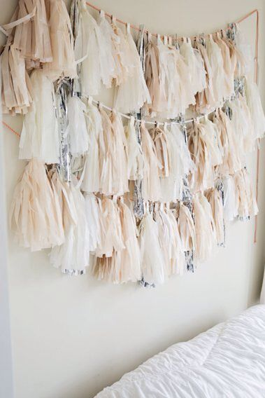 3 dresses white and gold headboard