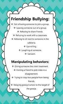 Bullying and manipulative behaviors