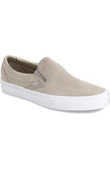 Silver Cloud Perforated Vans Slip On