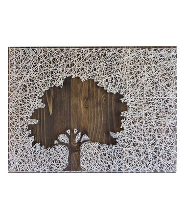 This Inverse Oak Tree String Art Kit is perfect! #zulilyfinds