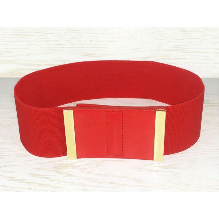Cintura Rossa con Rifiniture Dorate