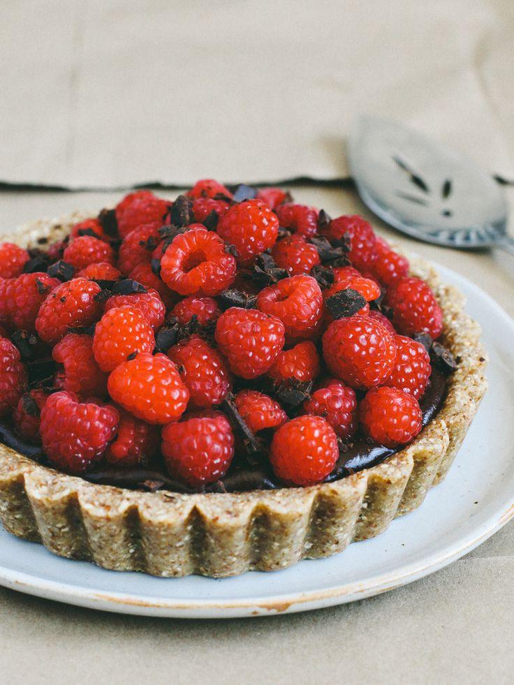 No-bake chocolate-raspberry tart + a giveaway | Oh, Ladycakes