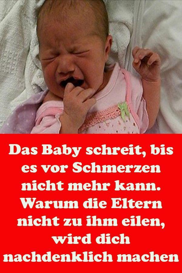 Baby Zahnt Schreit Vor Schmerzen