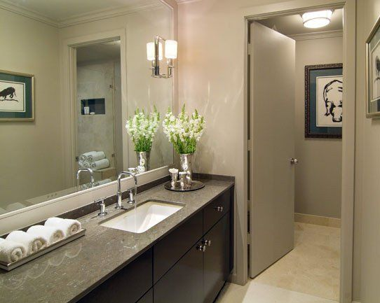 Bathroom color schemes grey google search bathroom - Exemple de salle de bain zen ...