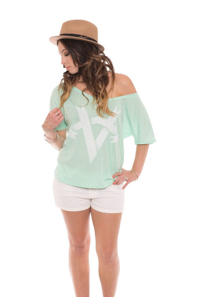 Mint colored Anthem Made top