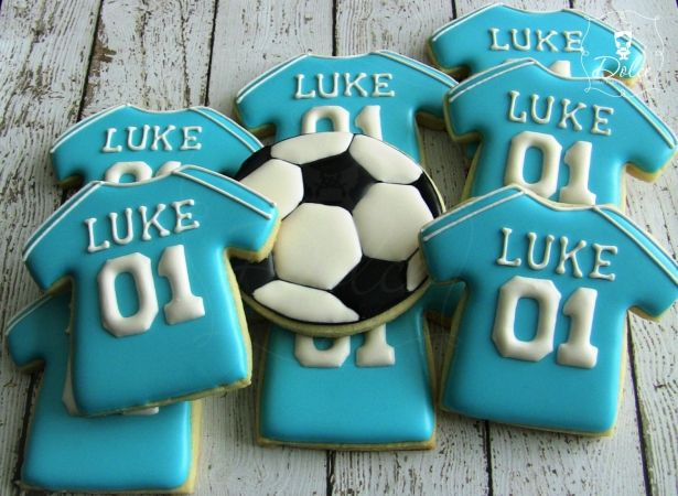 Soccer Jersey Cookies - 1 Dozen (12 Pcs) by Dolce Custom Cookies on Gourmly