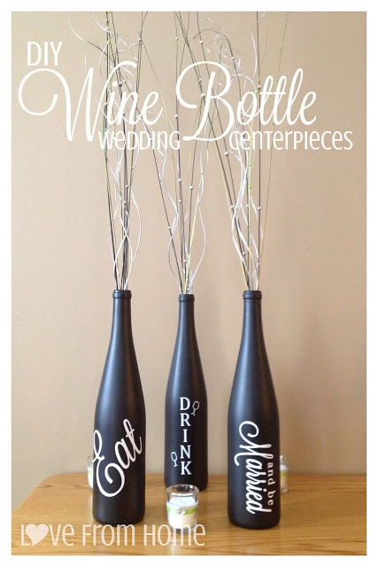 DIY Wine Bottle Centerpieces | L♥ve From Home