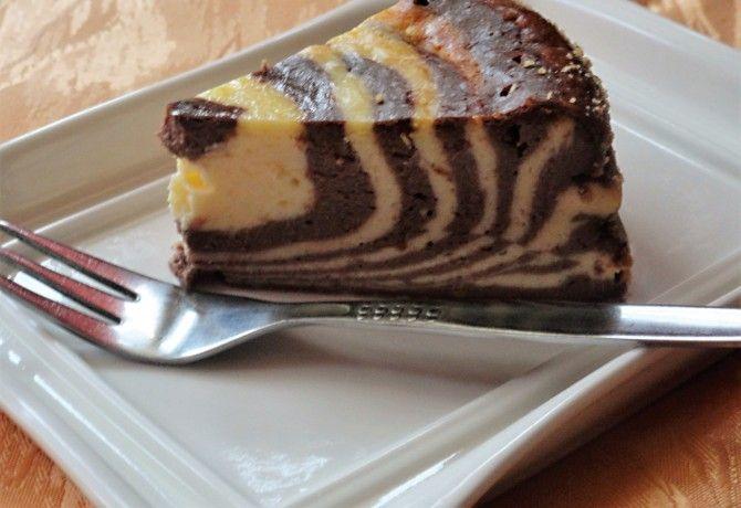 Túrós zebra sütemény