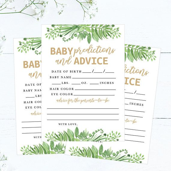 baby girl prediction cards mad libs  printable baby