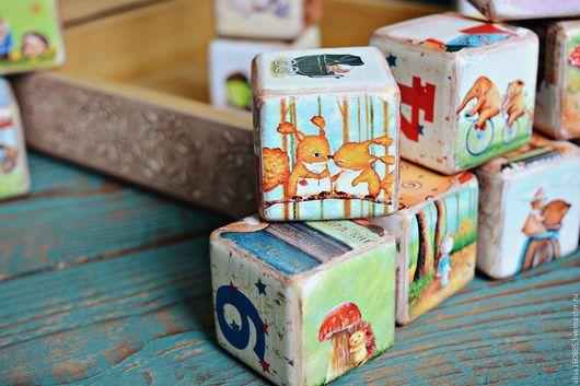 кубики декупаж  детские кубики  развивающие кубики  кубики купить  купить в москве  подарок ребенку  купить подарок ребенку