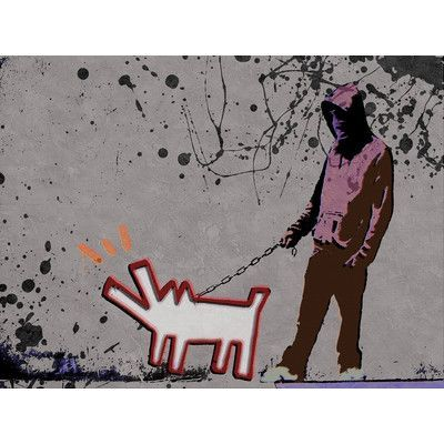 "JaxsonRea ""Choose The Dog"" by Banksy Painting Print on Wrapped Canvas Size: 30"" H x 40"" W x 1.5"" D"