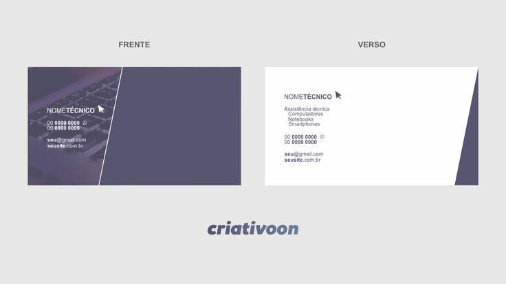 cartão de visita técnico de informática