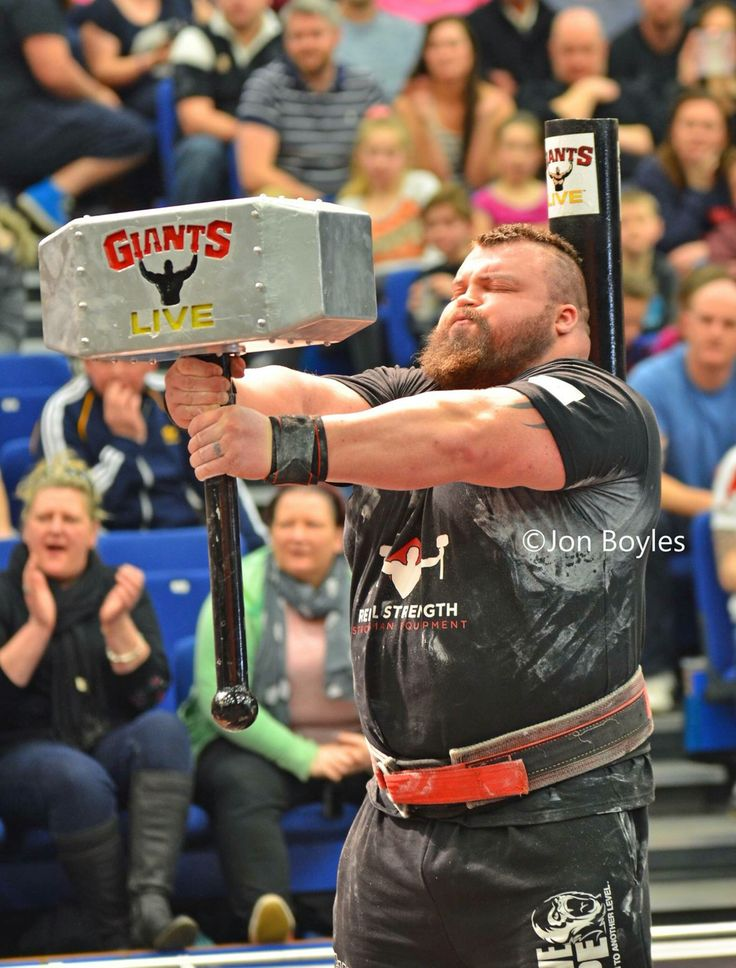 Eddie Hall / thors hammer hold@BSM2016