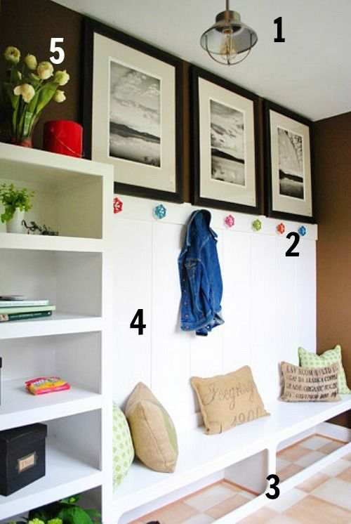 5 ways to get this mudroom look