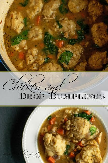 Enjoy a pot of home cooked comfort tonight with my flavorful Chicken and Drop Dumplings recipe.