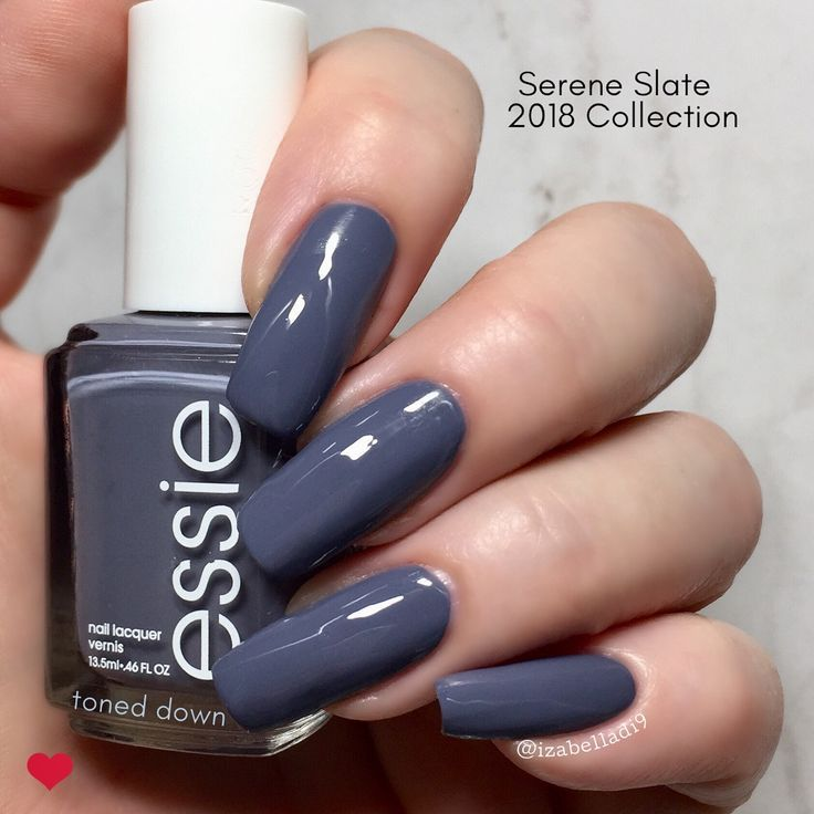 This is Essie Toned Down from Serene Slate Collection (2019) – another favorite …