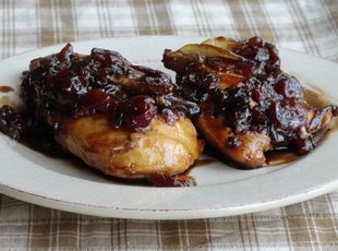 Chicken in Balsamic Cherry Sauce Recipe. I made this recipe for dinner and it was a Winner!! Definitely a keeper!