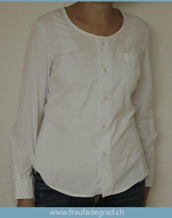 Upcycling Projekt aus Herrenhemd eine Bluse nähen