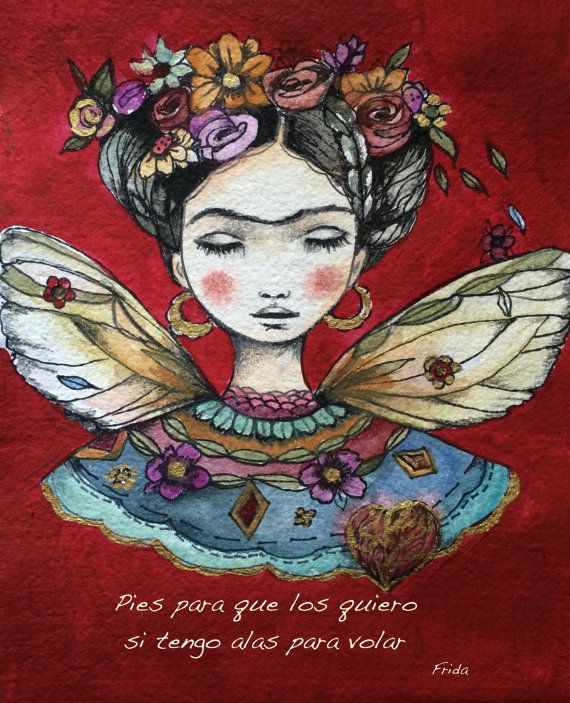 Frida Kahlo quote art print Pies para que los by claudiatremblay, $20.00