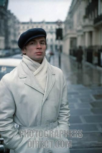 Rudolf Nureyev portrait of the Russian ballet dancer and choreographer on a street in London , England , 1967 . 17 March 1938 6 January 1993 . stock photo