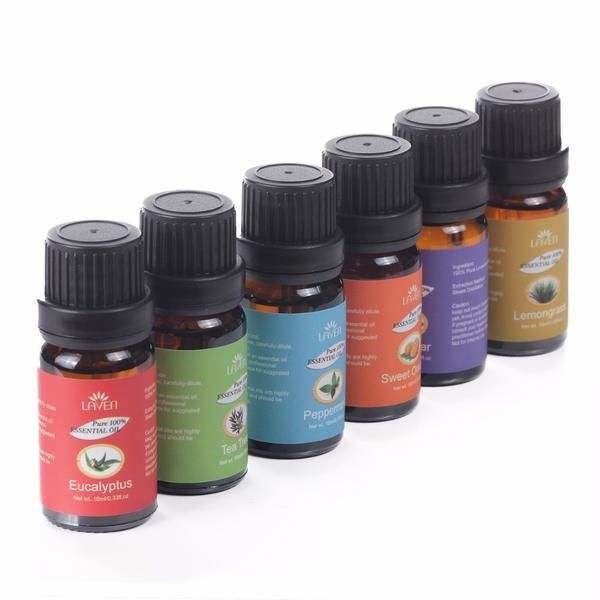 FREE SHIPPING, 6 pcs/set Gift Box 100% Pure 10ml Essential Oils for Bath Massage Spa Aromatherapy 6 different Aromas Essential oils USM0901