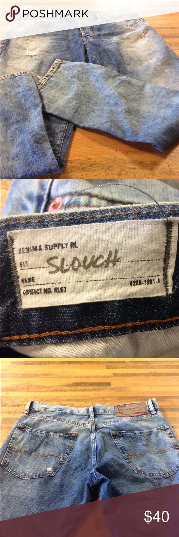 Men's Ralph Lauren Jeans Ralph Lauren worn slouch Jeans. Lightly used. Good condition. Denim & Supply Ralph Lauren Jeans Straight