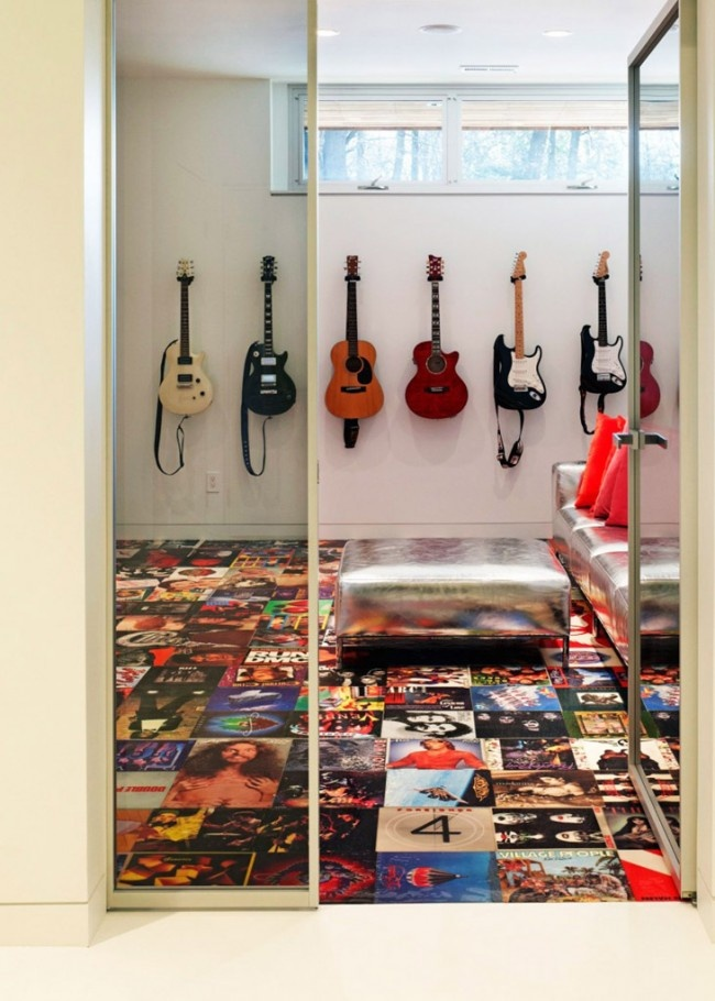What to do with old record album covers ... Shaker Heights House by Dimit Architects