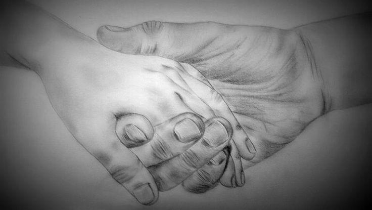 Hands/Broken/Love/Graphite/Drawing