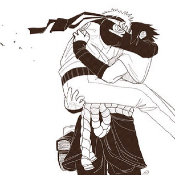 I imagine Naruto running towards Sasuke and hugging him so tight I CRI