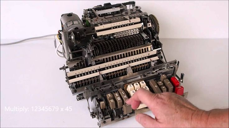 Inside of Mechanical Calculator
