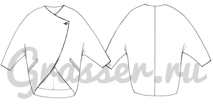 Пальто, выкройка №521 купить on-line
