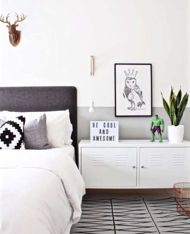 Ethan's room got a makeover lastweek! Despite being executed rather suddenly, plans for this had been in the making for a while. A few months ago, he fell in love with a monochrome mood board I ha...