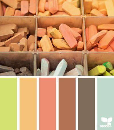pasteled hues