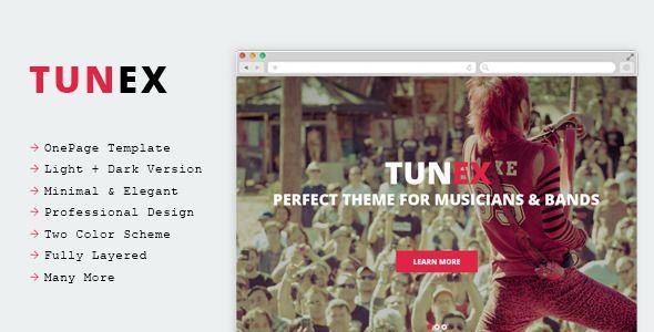 TUNEX - Music & Entertainment #PSD Template - Entertainment PSD Templates