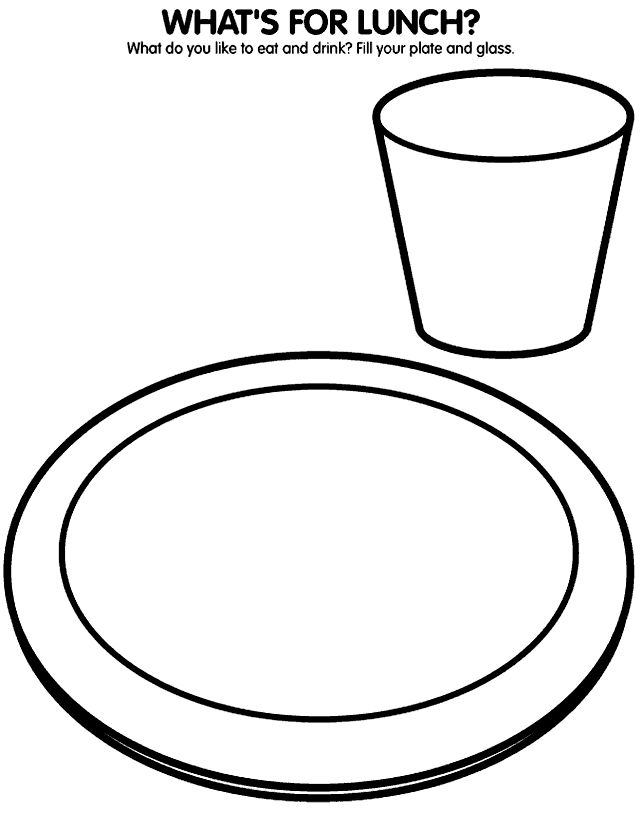 Empty Plate Coloring Sheet Coloring Pages