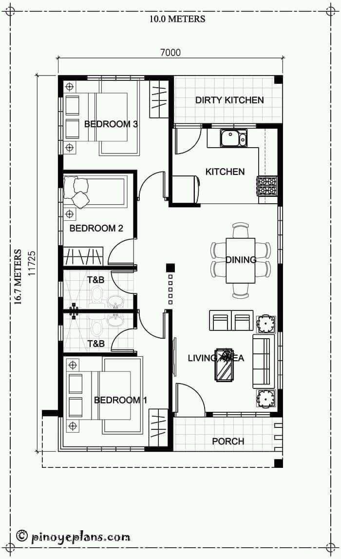Pin De Toni Hernowo Em Home Plans Plantas De Casas Projetos De Casas Populares Casas Com 3 Quartos