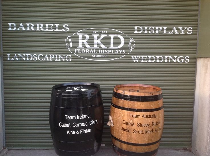 Wine Barrels personalized for you By RKD Floral Displays