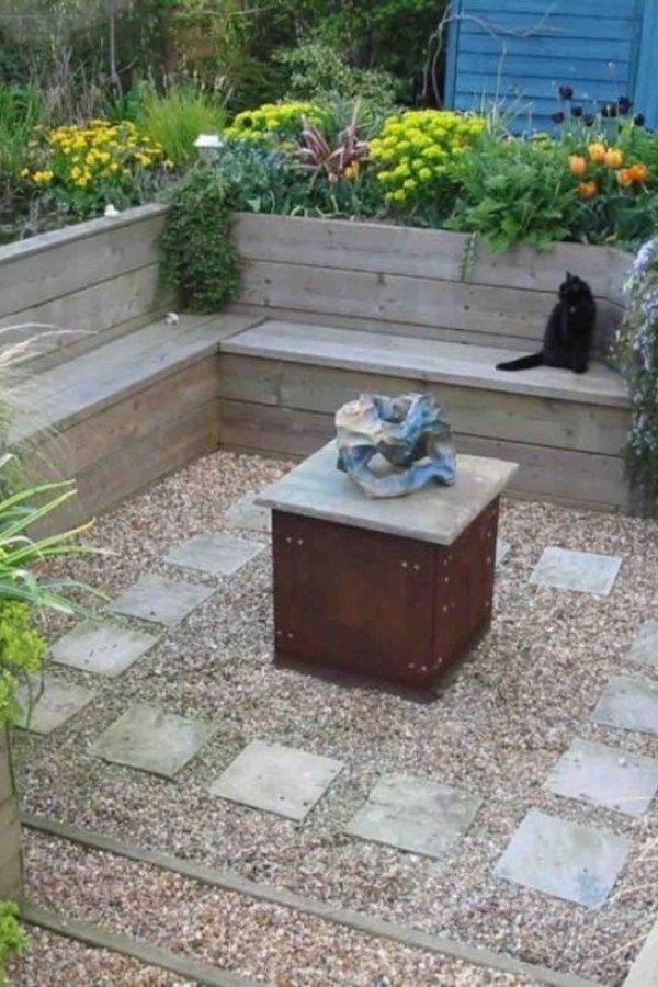 Easy And Cheap Garden Seating Ideas For Backyard 01 Garden Easy