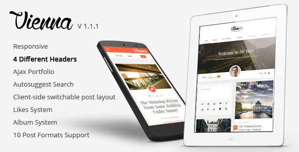 Vienna - Content Focused Personal Blog Theme