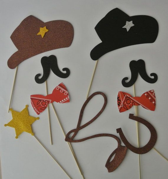 Western  photo booth props  Cowboy Photo by weddingphotobooth, $21.99