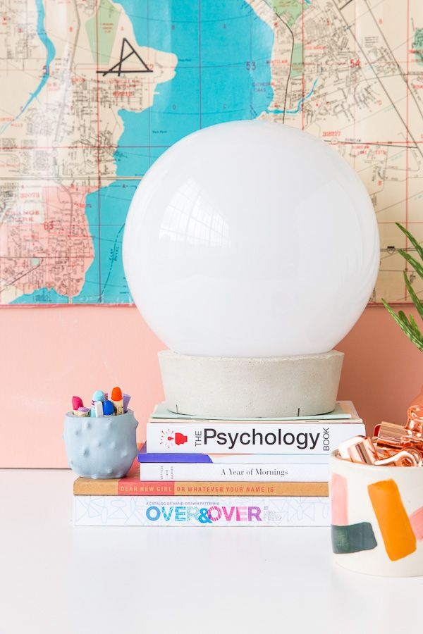 Cute Ikea Hack How to Create a Concrete Globe Table Lamp For Under