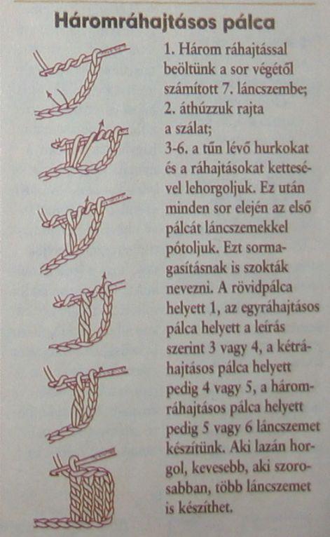 3-ráhajtásos pálca http://horgolas.uw.hu/ http://tarkafirka.blog.hu/2012/09/26/horgolas_kezdes_palcak_fordulas
