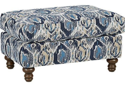 picture of Azura Blue Accent Ottoman from Ottomans Furniture